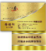 [名片 会员卡 喷绘]金色pvc卡名片